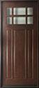 DB-311W Mahogany-Dark Mahogany Wood Entry Door