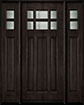 DB-311 2SL Mahogany-Espresso Wood Entry Door