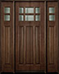 DB-311 2SL Mahogany-Walnut Wood Entry Door
