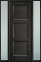 DB-314PT 2SL-F Mahogany-Espresso Wood Entry Door