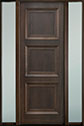 DB-314PT 2SL-F Mahogany-Walnut Wood Entry Door
