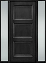 DB-314PW 2SL-F Mahogany-Espresso Wood Entry Door