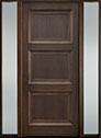 DB-314PW 2SL-F Mahogany-Walnut Wood Entry Door