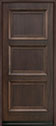 DB-314PW Mahogany-Walnut Wood Entry Door