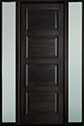 DB-4000PT 2SL-F Mahogany-Espresso Wood Entry Door