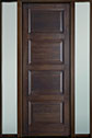 DB-4000PT 2SL-F Mahogany-Walnut Wood Entry Door