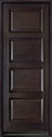 DB-4000PT Mahogany-Espresso Wood Entry Door