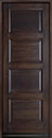 DB-4000PT Mahogany-Walnut Wood Entry Door