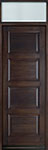 DB-4000PT TR-EN1 Mahogany-Walnut Wood Entry Door