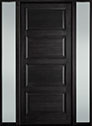 DB-4000PW 2SL-F Mahogany-Espresso Wood Entry Door