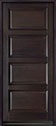 DB-4000PW Mahogany-Espresso Wood Entry Door