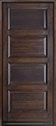 DB-4000PW Mahogany-Walnut Wood Entry Door