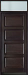 DB-4000PW TR-EN2 Mahogany-Espresso Wood Entry Door