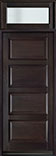 DB-4000PW TR-EN4 Mahogany-Espresso Wood Entry Door