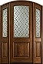 DB-552DG 2SL Mahogany-Walnut Wood Entry Door