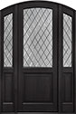 DB-552PTDG 2SL Mahogany-Espresso Wood Entry Door