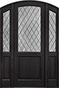 DB-552PTDG 2SL Mahogany-Espresso Wood Door - in-Stock