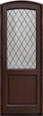 DB-552PTDG Mahogany-Walnut Wood Entry Door