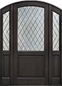 DB-552PWDG 2SL Mahogany-Espresso Wood Entry Door
