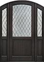 DB-552PWDG 2SL Mahogany-Espresso Wood Door - in-Stock