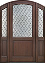 DB-552PWDG 2SL Mahogany-Walnut Wood Entry Door