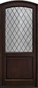 DB-552PWDG Mahogany-Espresso Wood Entry Door