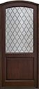 DB-552PWDG Mahogany-Walnut Wood Entry Door
