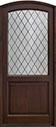 DB-552PWDG Mahogany-Walnut Wood Door - in-Stock