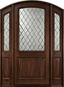DB-552WDG 2SL Mahogany-Dark Mahogany Wood Entry Door