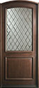 DB-552WDG Mahogany-Walnut Wood Entry Door