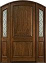 DB-552WP 2SL Mahogany-Walnut Wood Entry Door