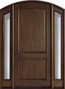 DB-552W 2SL Mahogany-Walnut Wood Entry Door