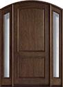 DB-552W 2SL Mahogany-Walnut Wood Entry Door