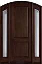 DB-552 2SL Mahogany-Dark Mahogany Wood Entry Door