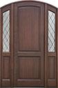 DB-554PTDG 2SL Mahogany-Walnut Wood Entry Door