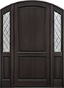 DB-554PWDG 2SL Mahogany-Espresso Wood Entry Door