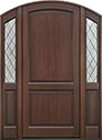 DB-554PWDG 2SL Mahogany-Walnut Wood Entry Door