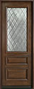 DB-611TDG Mahogany-Walnut Wood Entry Door