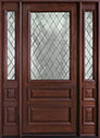 DB-611WDG 2SL Mahogany-Dark Mahogany Wood Entry Door
