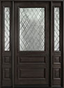 DB-611WDG 2SL Mahogany-Espresso Wood Entry Door