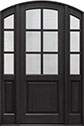 DB-651PT 2SL Mahogany-Espresso Wood Entry Door