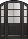 DB-651PW 2SL Mahogany-Espresso Wood Entry Door