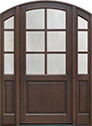 DB-651PW 2SL Mahogany-Walnut Wood Entry Door