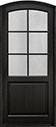 DB-651PW Mahogany-Espresso Wood Entry Door