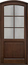 DB-651PW Mahogany-Walnut Wood Entry Door