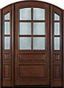 DB-652W 2SL Mahogany-Walnut Wood Entry Door