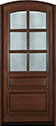DB-652W Mahogany-Walnut Wood Entry Door