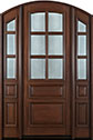 DB-652 2SL Mahogany-Walnut Wood Entry Door