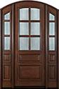DB-652 2SL Mahogany-Walnut Wood Entry Door