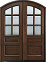 DB-652 DD Mahogany-Walnut Wood Entry Door